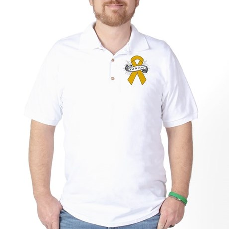 Appendix Cancer Find A Cure Golf Shirt