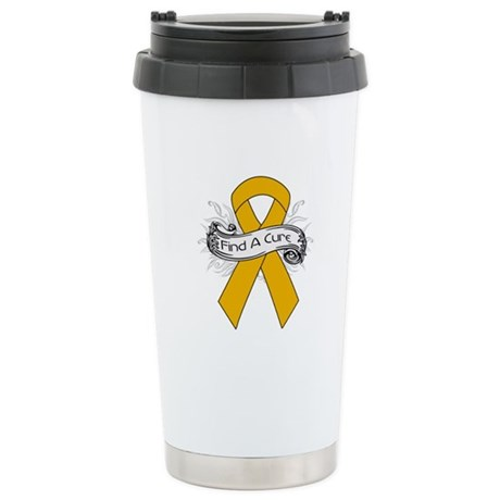 Appendix Cancer Find A Cure Ceramic Travel Mug