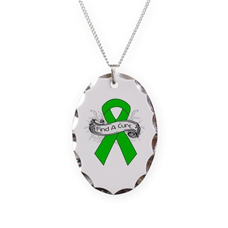 Bile Duct Cancer Find A Cure Necklace Oval Charm