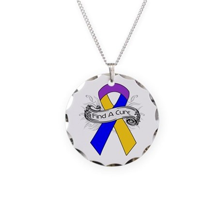Bladder Cancer Find A Cure Necklace Circle Charm