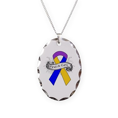 Bladder Cancer Find A Cure Necklace Oval Charm