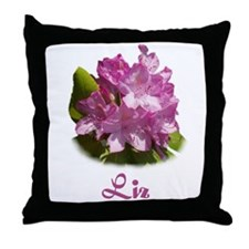 Liz: Purple Flower Throw Pillow