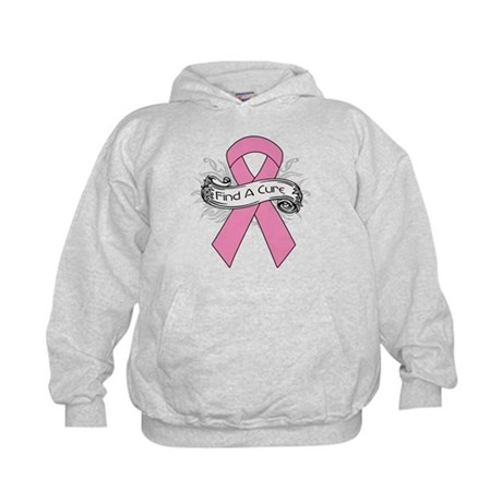 Breast Cancer Find A Cure Kids Hoodie