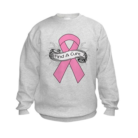 Breast Cancer Find A Cure Kids Sweatshirt