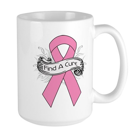 Breast Cancer Find A Cure Large Mug