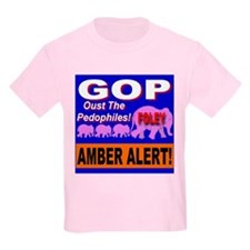Amber Alert Oust the Pedophil Kids T-Shirt