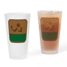 Tischtennis Drinking Glass