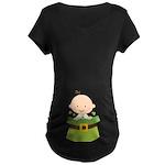Irish Baby Shamrock Luck Maternity T-Shirt