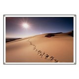 Footprints over sand dunes - Banner