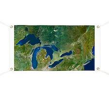 Great Lakes, satellite image - Banner