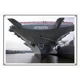 USS Intrepid aircraft carrier - Banner