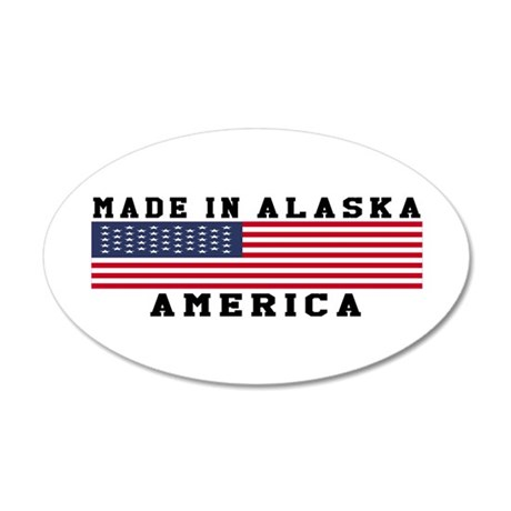 Made In Alaska 35x21 Oval Wall Decal