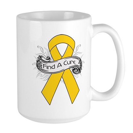 Childhood Cancer Find A Cure Large Mug