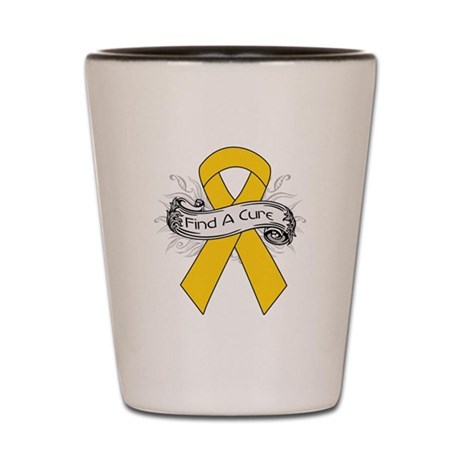 Childhood Cancer Find A Cure Shot Glass