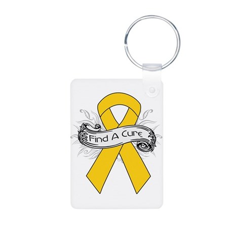 Childhood Cancer Find A Cure Aluminum Photo Keycha