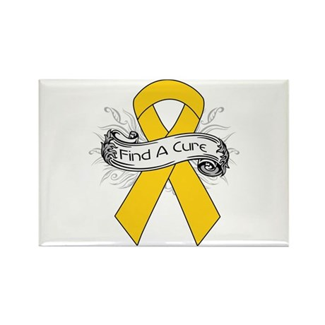 Childhood Cancer Find A Cure Rectangle Magnet