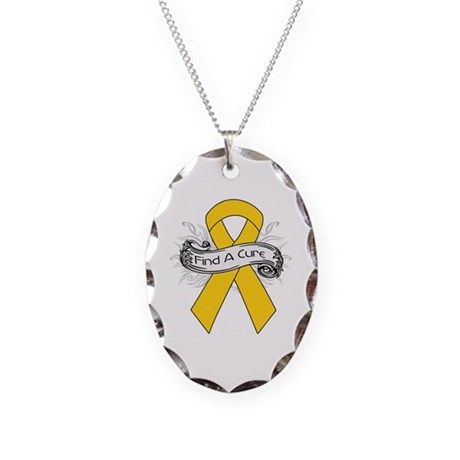 Childhood Cancer Find A Cure Necklace Oval Charm
