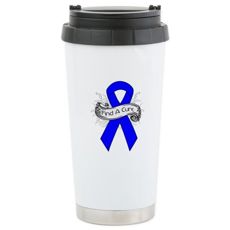 Colon Cancer Find A Cure Ceramic Travel Mug