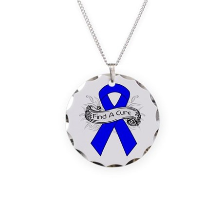Colon Cancer Find A Cure Necklace Circle Charm