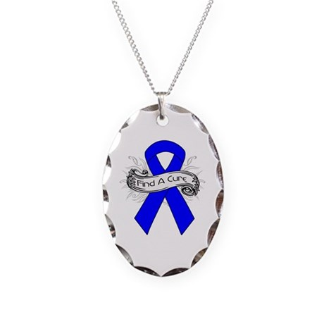 Colon Cancer Find A Cure Necklace Oval Charm