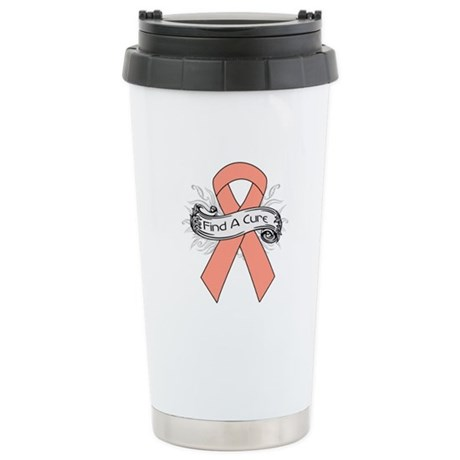 Endometrial Cancer Find A Cure Ceramic Travel Mug