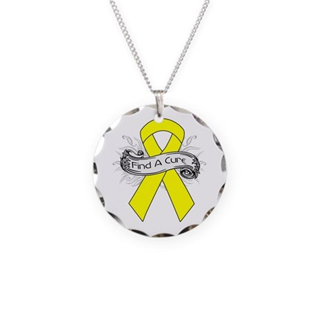 Ewings Sarcoma Find A Cure Necklace Circle Charm