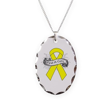 Ewings Sarcoma Find A Cure Necklace Oval Charm