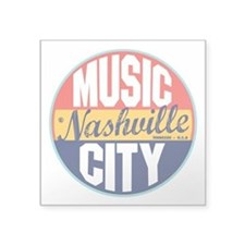 "Nashville Vintage Label 3"" Lapel Sticker (48"