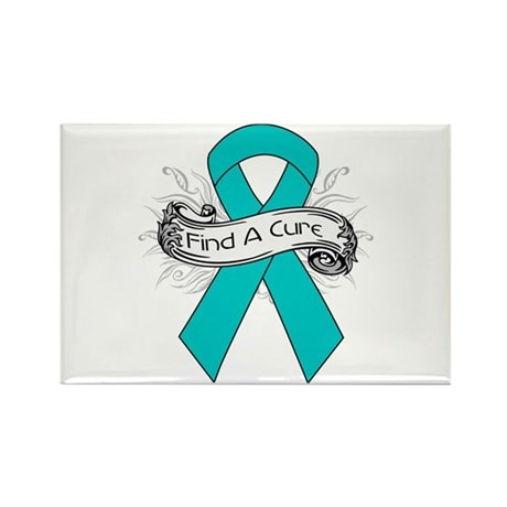 Gynecologic Cancer Find A Cure Rectangle Magnet