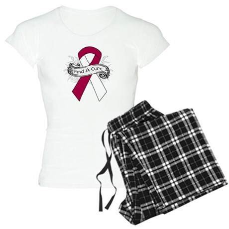 Head Neck Cancer Find A Cure Women's Light Pajamas