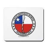 Chile Santiago North LDS Mission Flag Cutout Map M