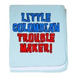Little Colombian Trouble Maker baby blanket
