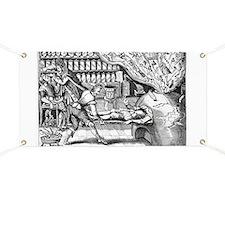 Medical purging, satirical artwork - Banner