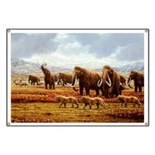 Woolly mammoths - Banner