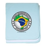 Brazil Salvador South LDS Mission Flag Cutout Map