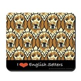 I Love Orange English Setters Mousepad