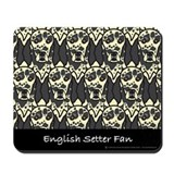 English Setter Fan Mousepad