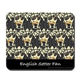 Tri-Color English Setter Fan Mousepad