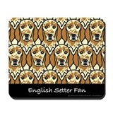 Orange English Setter Fan Mousepad