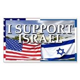 I Support Israel Rectangle  Aufkleber