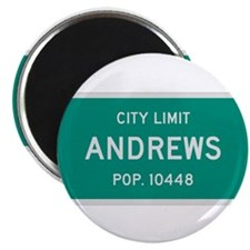 "Andrews, Texas City Limits 2.25"" Magnet (10 pack)"
