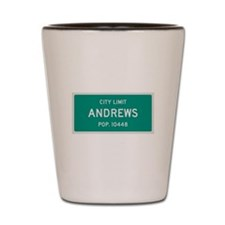 Andrews, Texas City Limits Shot Glass