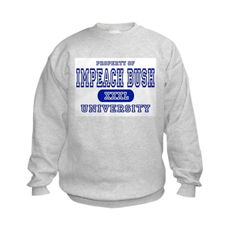 Impeach Bush University Kids Sweatshirt