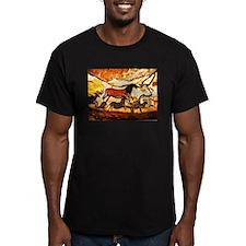 vLascaux Horses-B-D-BL T-Shirt