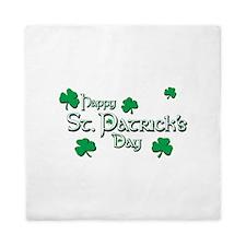 Happy St. Patricks Day Queen Duvet