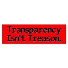 Transparency Bumper Sticker