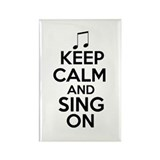 Keep Calm and Sing On Rectangle Magnet (100 pack)