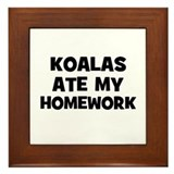 Koalas Ate My Homework Framed Tile
