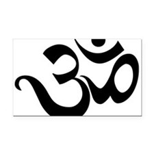 Cute Anusara yoga Rectangle Car Magnet