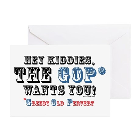 GOP=Greedy Old Pervert  Greeting Cards (Package of
